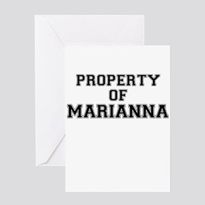 Property of MARIANNA Greeting Cards