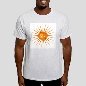 Shining Sun Ash Grey T-Shirt
