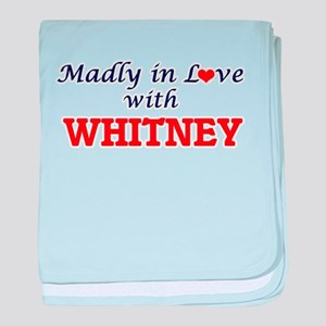 Madly in love with Whitney baby blanket