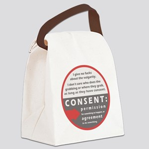 Consent Canvas Lunch Bag