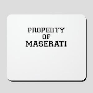Property of MASERATI Mousepad