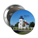 "Sand Point Lighthouse Escanaba 2.25"" Button"