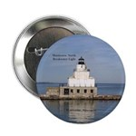 "Manitowoc North Breakwater Light 2.25"" Button"