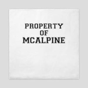 Property of MCALPINE Queen Duvet