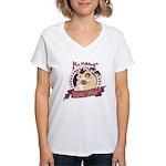 Mr. Friskett's Royal Flush Women's V-Neck T-Shirt