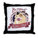 Mr. Friskett's Royal Flush Throw Pillow