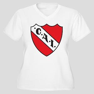 Escudo Independiente Women's Plus Size V-Neck T-Sh