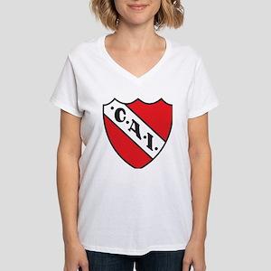 Escudo Independiente Women's V-Neck T-Shirt