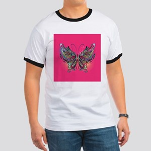 Colorful Butterfly Ringer T