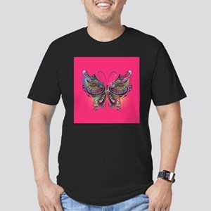 Colorful Butterfly Men's Fitted T-Shirt (dark)