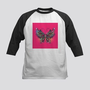 Colorful Butterfly Kids Baseball Tee