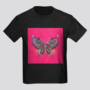 Colorful Butterfly Kids Dark T-Shirt