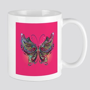 Colorful Butterfly 11 oz Ceramic Mug
