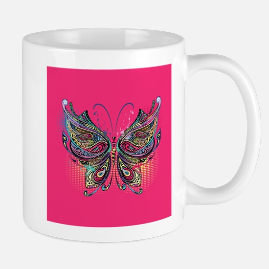 Colorful Butterfly Mug
