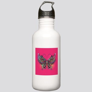 Colorful Butterfly Stainless Water Bottle 1.0L