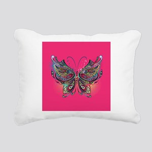 Colorful Butterfly Rectangular Canvas Pillow