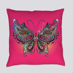 Colorful Butterfly Everyday Pillow