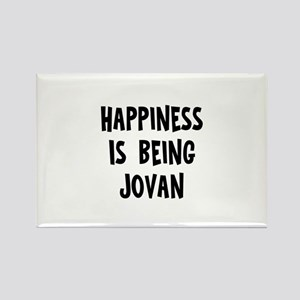 Happiness is being Jovan Rectangle Magnet