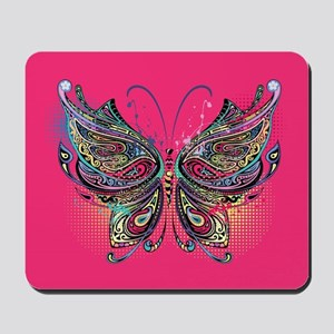 Colorful Butterfly Mousepad