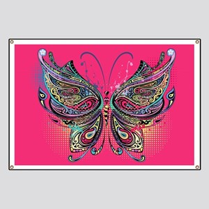 Colorful Butterfly Banner