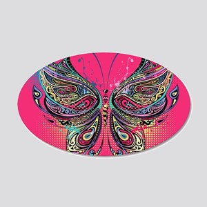 Colorful Butterfly 20x12 Oval Wall Decal