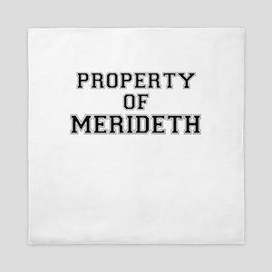 Property of MERIDETH Queen Duvet