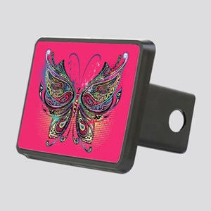 Colorful Butterfly Rectangular Hitch Cover
