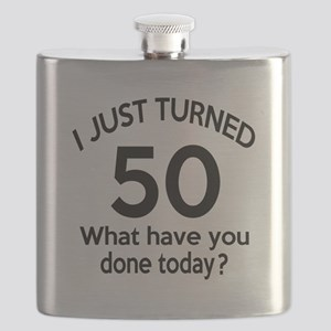 I Just Turned 50 What Have You Done Today ? Flask