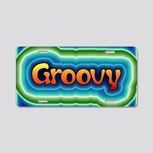 Groovy Aluminum License Plate
