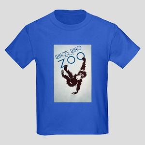 Chimp Monkeying Around Kids Dark T-Shirt