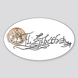 Elizabeth I Signature Oval Sticker
