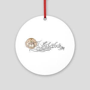 Elizabeth I Signature Ornament (Round)