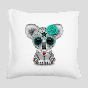 Teal Blue Day of the Dead Sugar Skull Baby Koala S