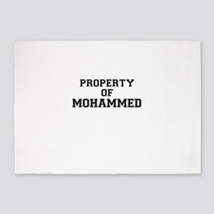 Property of MOHAMMED 5'x7'Area Rug