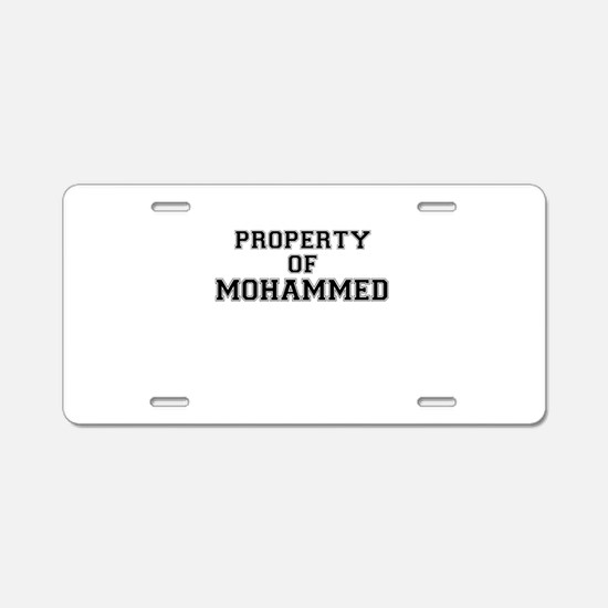 Property of MOHAMMED Aluminum License Plate