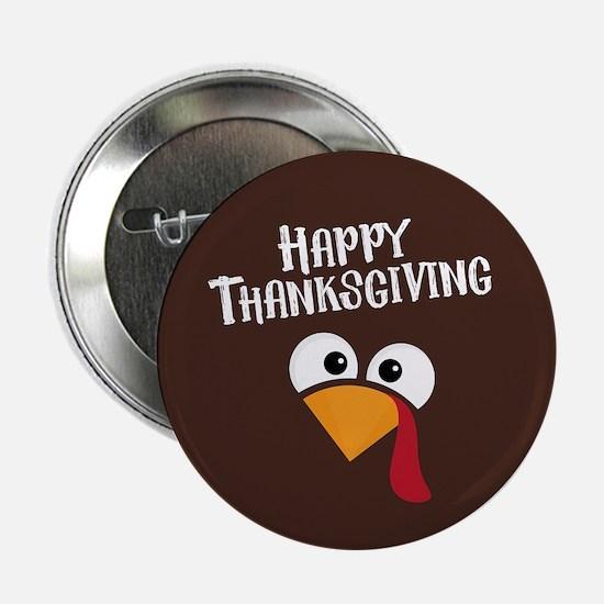 """Thanksgiving Turkey 2.25"""" Button"""