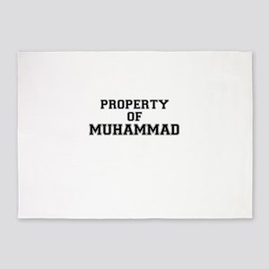 Property of MUHAMMAD 5'x7'Area Rug