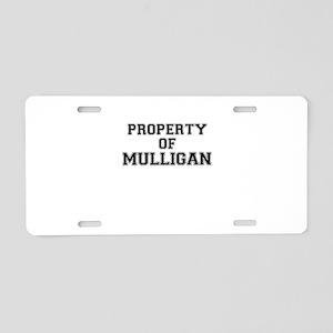 Property of MULLIGAN Aluminum License Plate