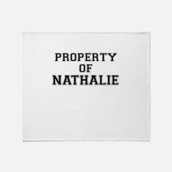 Property of NATHALIE Throw Blanket