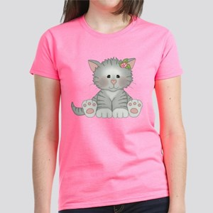 Gray Kitty Women's Dark T-Shirt