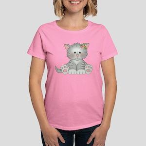 Gray Kitty Women's Dark T-Shirt