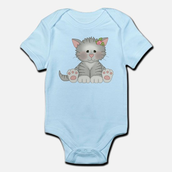 Gray Kitty Infant Bodysuit