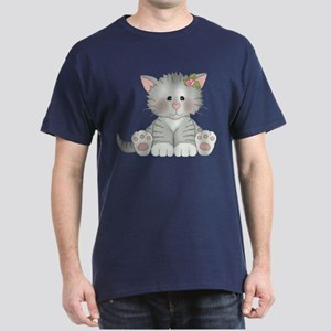 Gray Kitty Dark T-Shirt