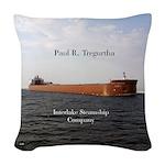 Paul R. Tregurtha Woven Throw Pillow