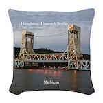 Houghton Hancock Bridge At Dusk Woven Throw Pillow