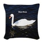 Mute Swan Woven Throw Pillow