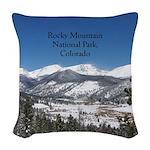 Rocky Mountain National Park Woven Throw Pillow
