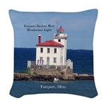 Fairport Harbor West Breakwater Woven Throw Pillow