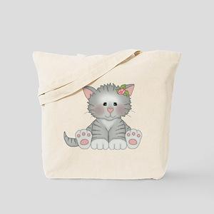 Gray Kitty Tote Bag