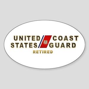 USCG Retired Oval Sticker